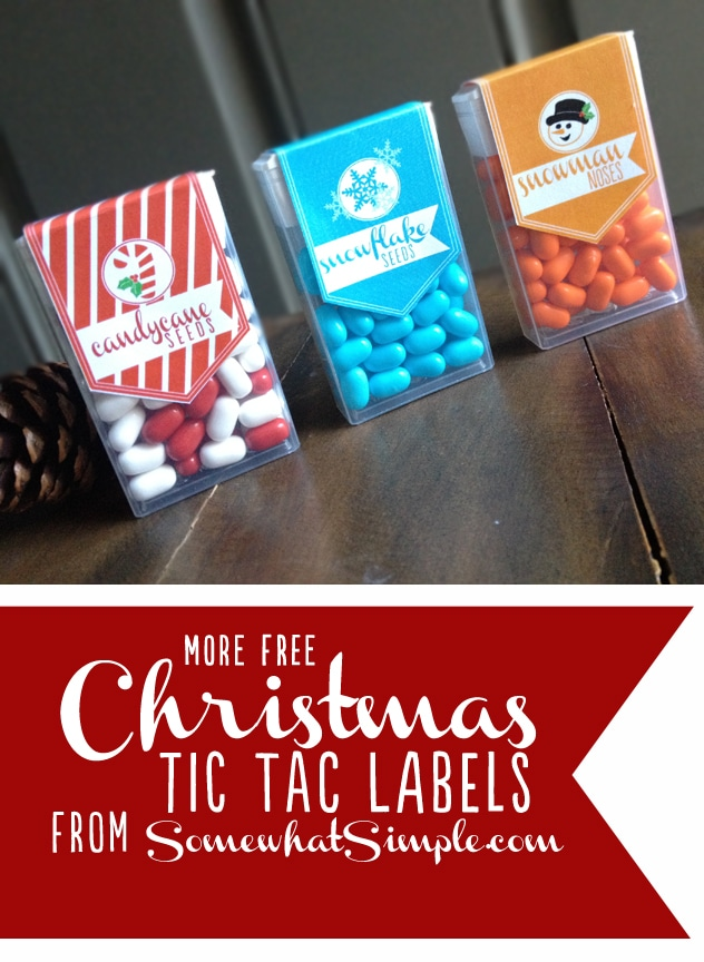 Christmas Tic Tac labels pinterest