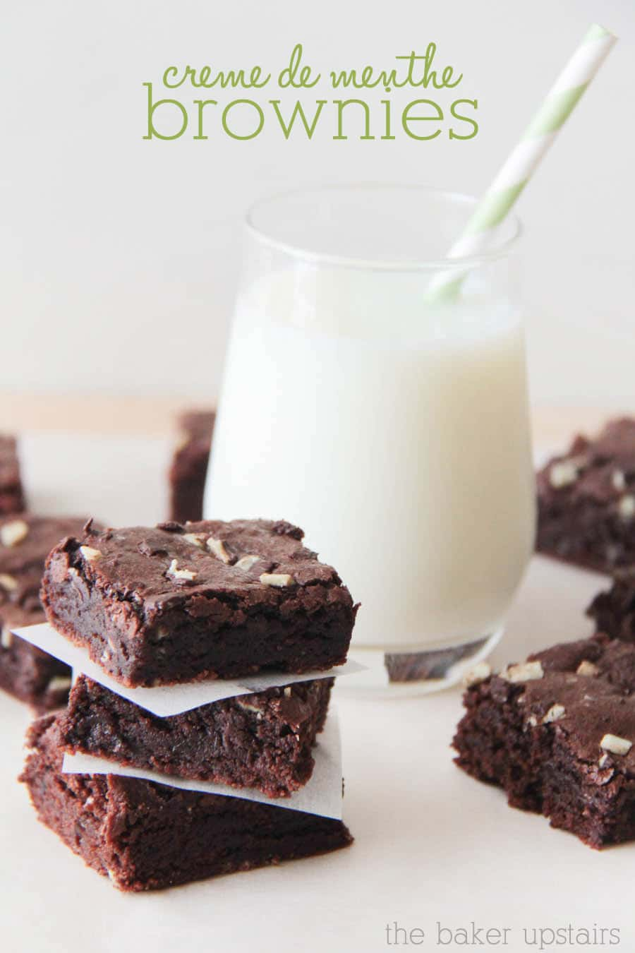 These mint brownies are so quick and easy to put together, but are still impressive enough to bring to a holiday party. Creme de Menthe Brownies just might be your new favorite treat! #cremedementhebrownies #easymintbrownies #mintchocolatebrownies #mintbrownierecipe #easycremedementhemintbrownies via @somewhatsimple