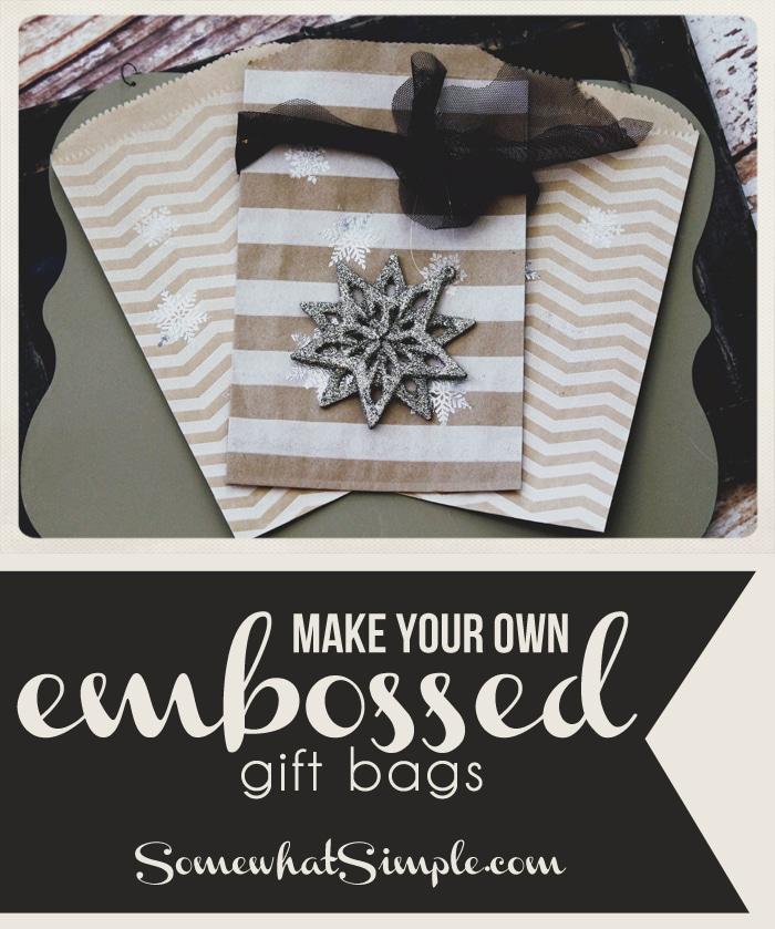 embossed gift bags
