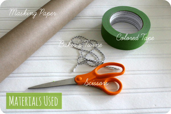 simple gift wrap supplies 2