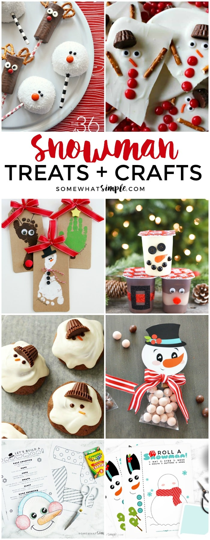 Welcome winter with our 15 favorite snowman treats and snowman crafts!