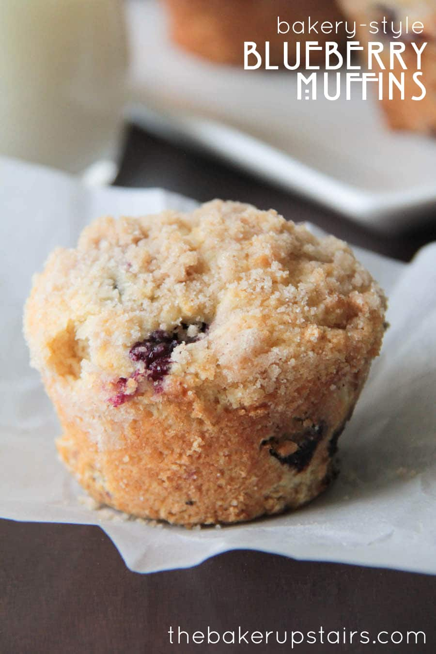 Blueberry muffin with a sugar topping