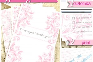Printable daily journal with room for custom goal tracking! | by saynotsweetanne.com via somewhatsimple.com