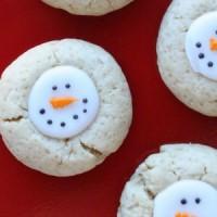 thumbprint snowmen round