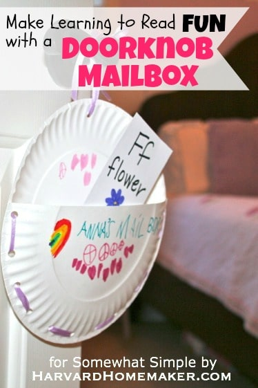 Make Learning To Read Fun With A Doorknob Mailbox