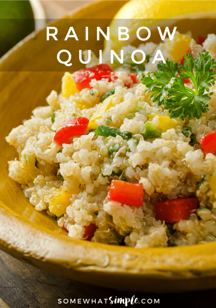 Wholesome, healthy eating doesn't have to be a challenge or take up too much time! This delicious rainbow quinoa is versatile, healthy and super easy to make!
