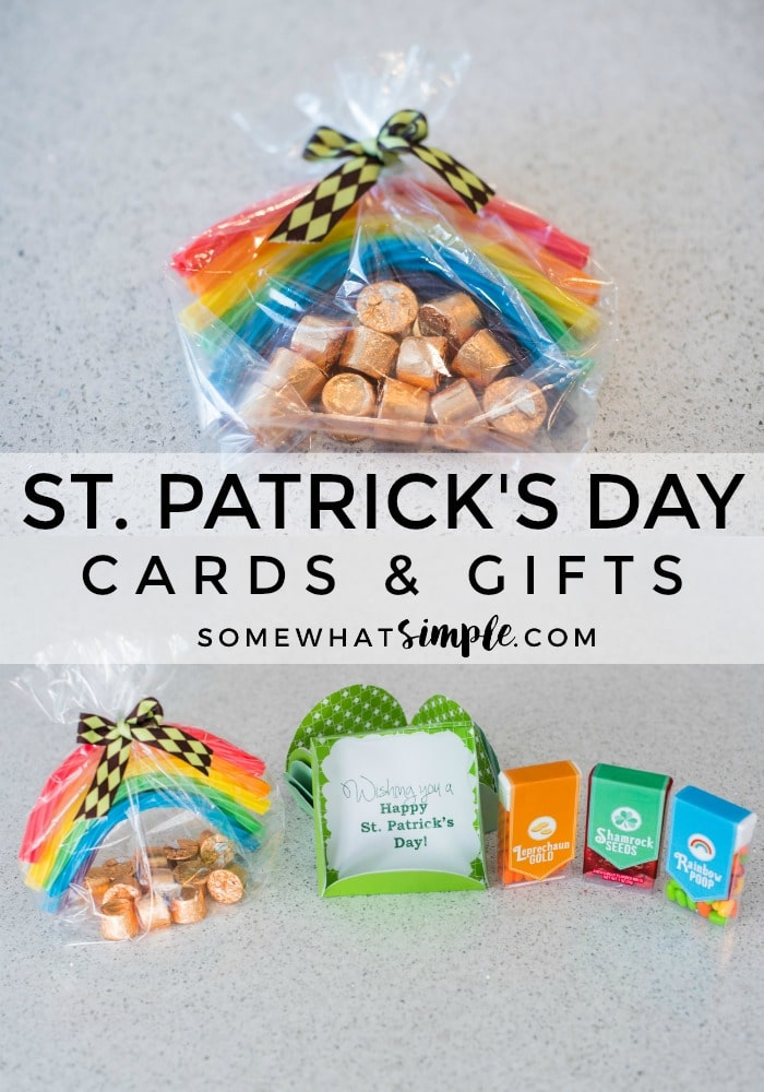 Grab our printables + a few simple supplies and make these fun St. Patrick's Day cards and gifts!  via @somewhatsimple