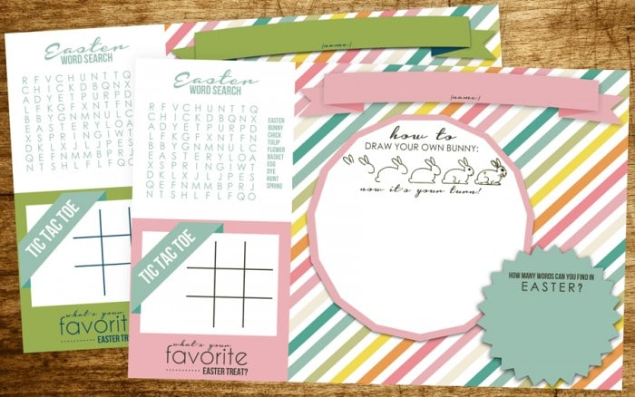 Easter Placemats + more free Easter printables