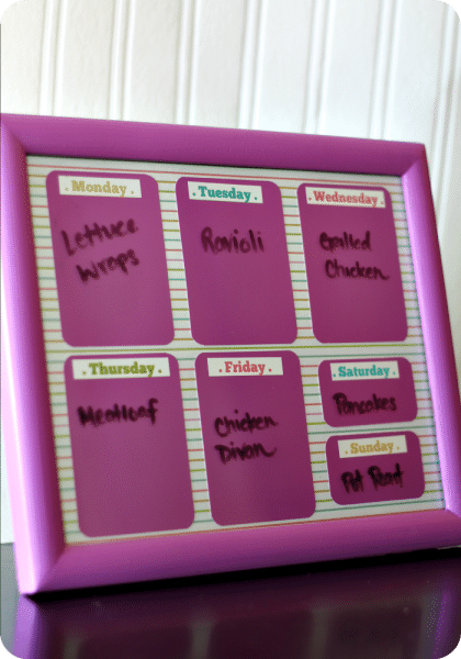 framed menu board 0