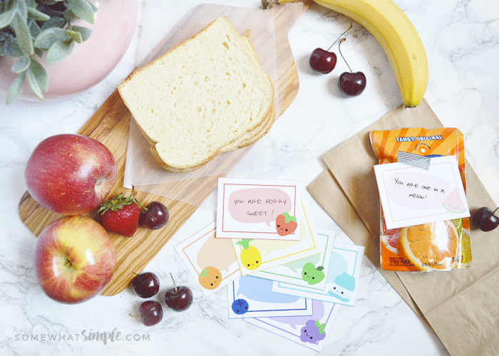 Lunch Box Letters – Fruity Lunch Note Printables