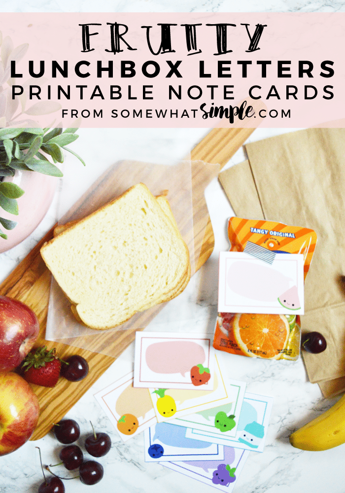 Use these adorable fruity lunch note printables to send a little happy note when you pack up lunches for your kids or spouse!