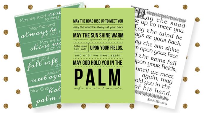 Irish blessing free printable // 3 designs
