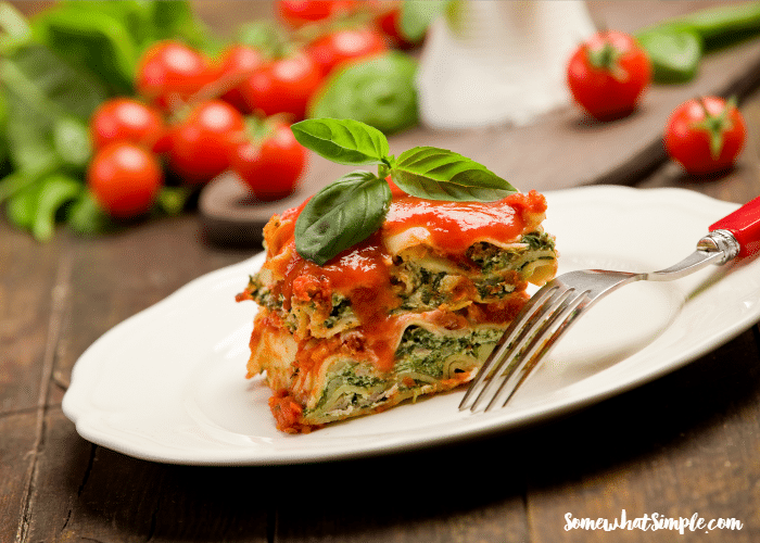 slow cooker vegetable lasagna 1