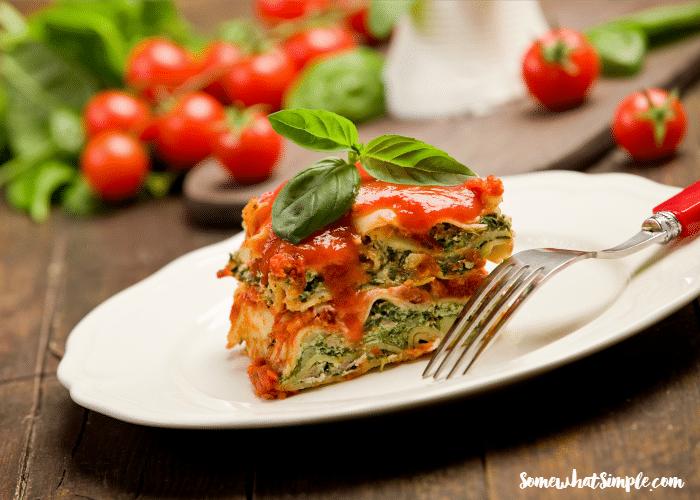 slow cooker vegetable lasagna 1