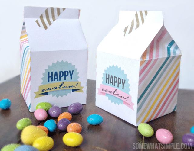 Darling Easter Milk Carton Boxes – Free Printable