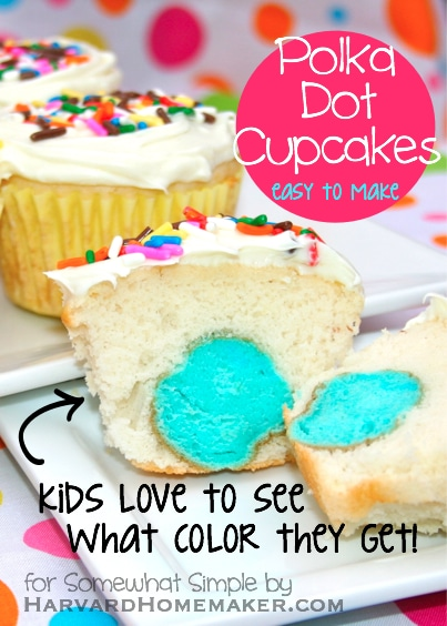 Easy Polka Dot Cupcakes
