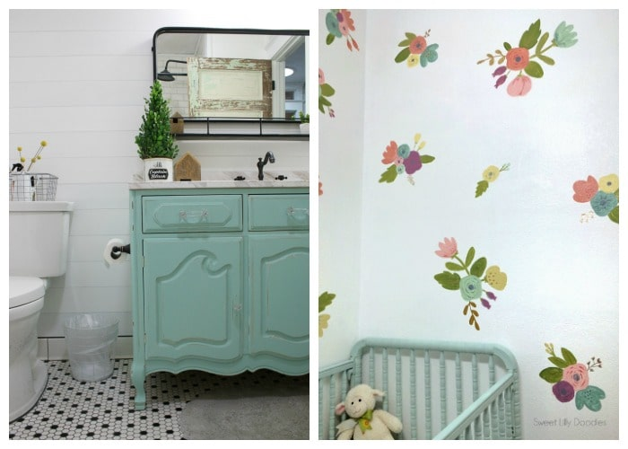 bathroom and nursery accent wall ideas