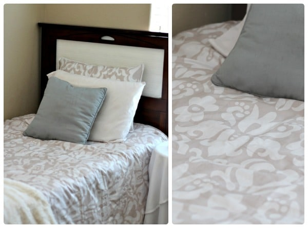 beige bedding