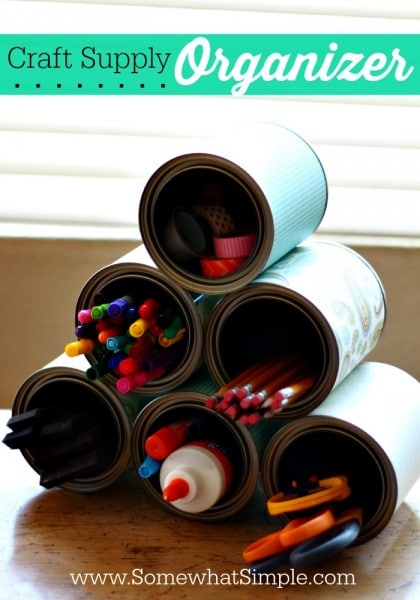 tin can craft organizer
