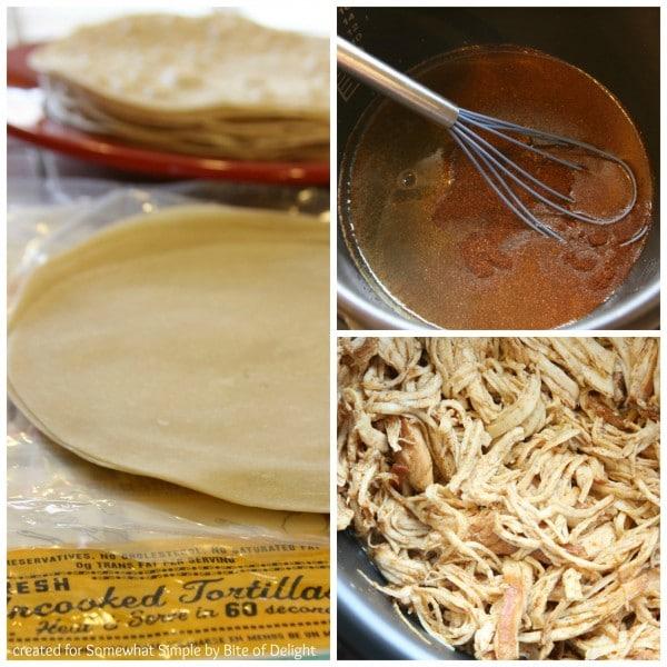 Chicken Enchilada Collage 1