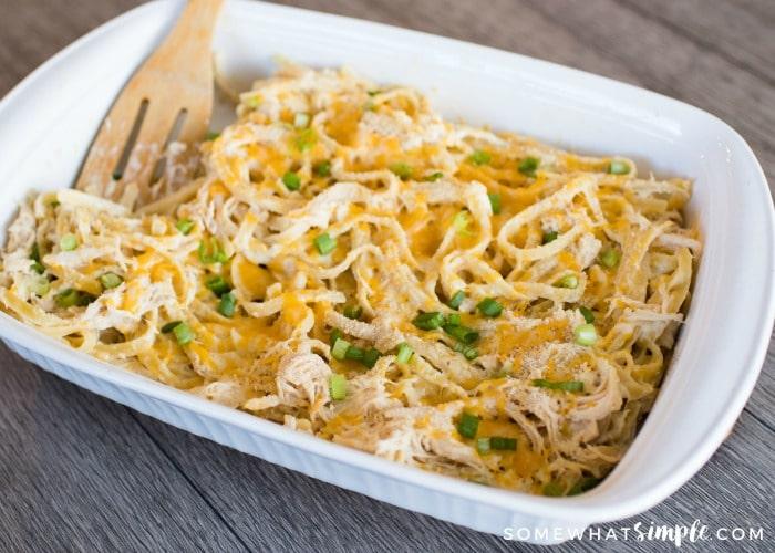 Chicken Fettuccine Casserole – Simple and Delicious!