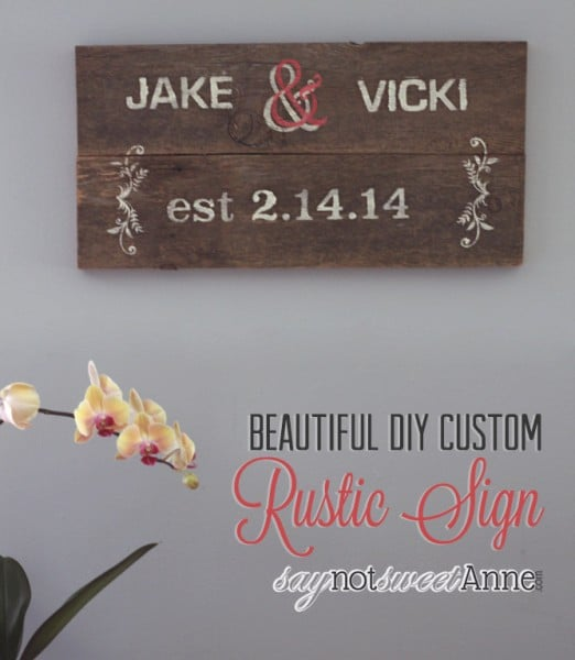 Beautiful DIY Rustic Sign | By saynotsweetanne.com via Somewhatsimple.com | #diy #rustic #decor