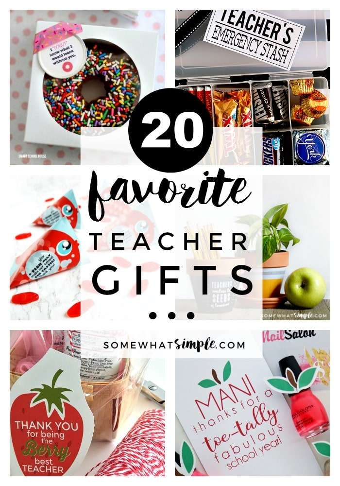 Show your child's teacher just how much you LOVE them with these 20 favorite teacher appreciation gifts! #teacherappreciation #teacher #teachergift #giftidea #gift #endofschool