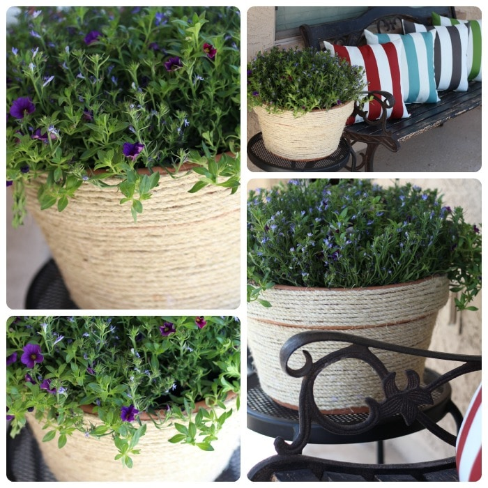 Sisal Rope Wrapped Pot #SpringIsCalling - Somewhat Simple