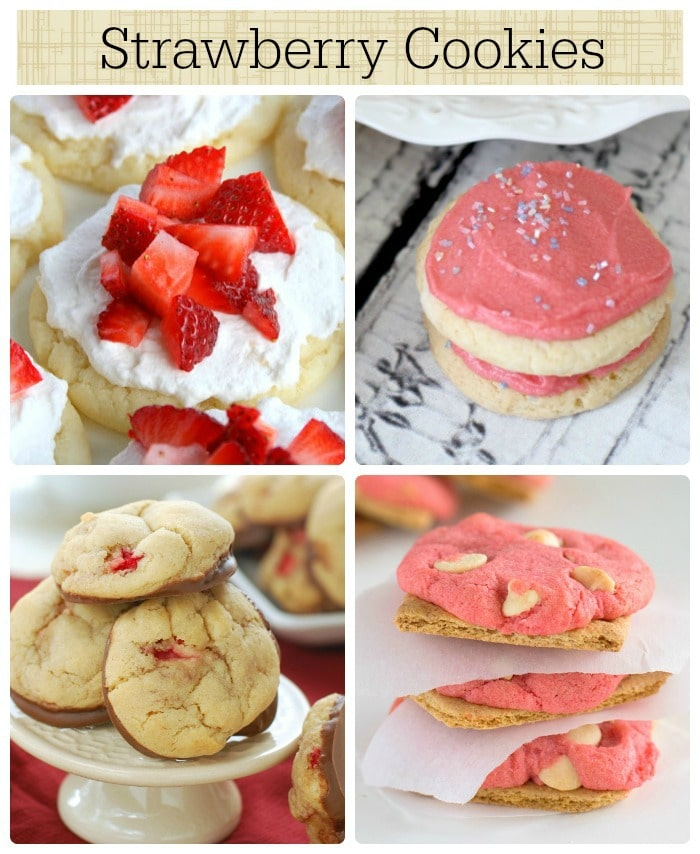 14 strawberry cookies