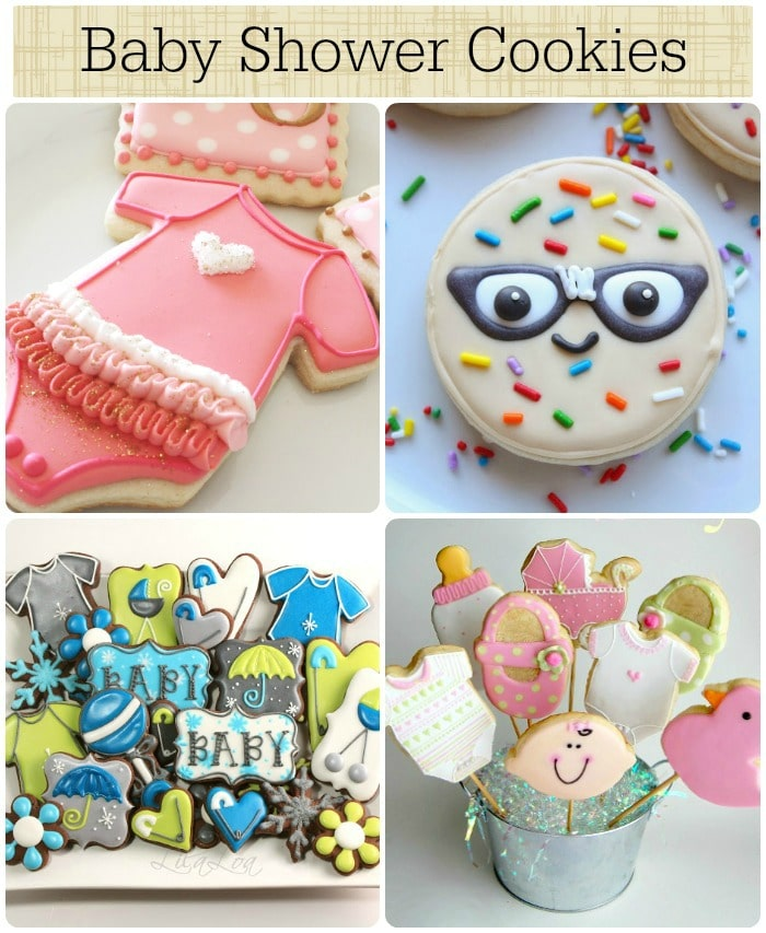 6 baby shower cookies