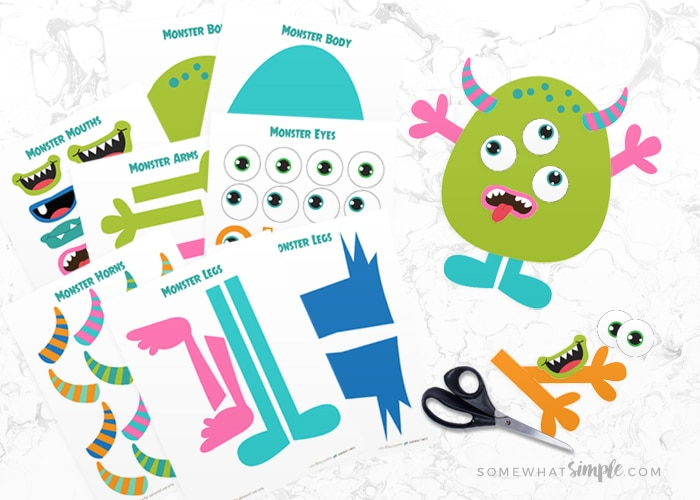 Build A Monster Printable Craft Kit