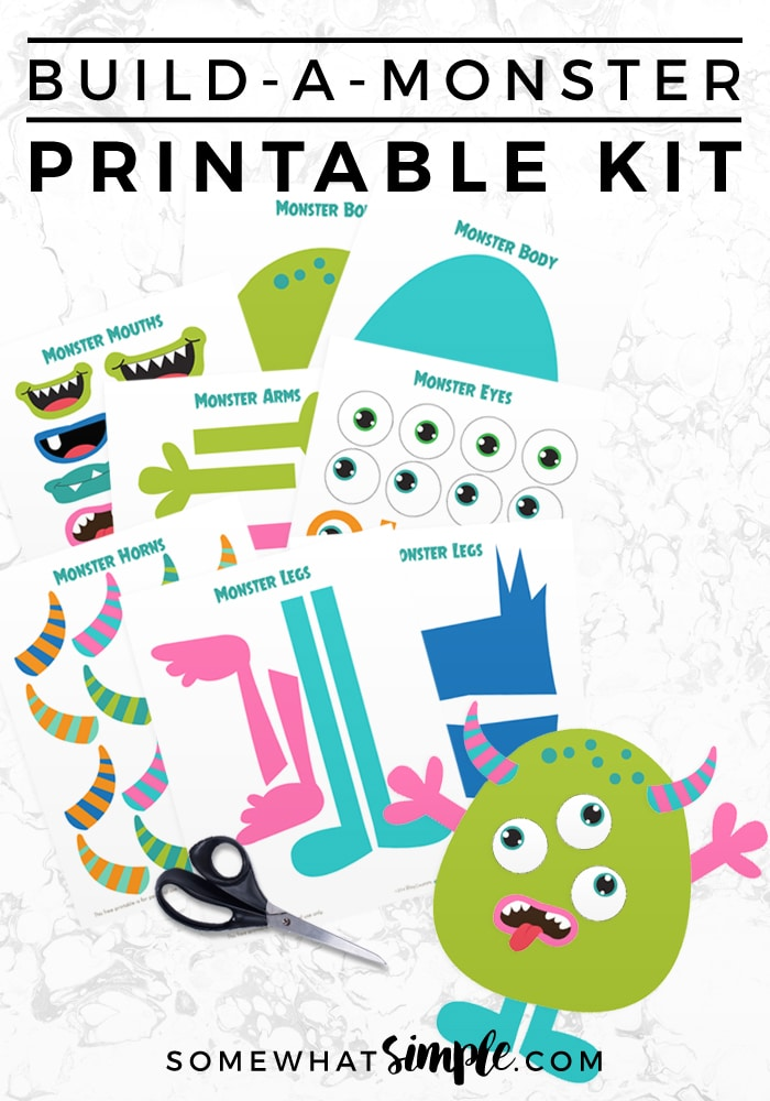 Build A Monster free printable
