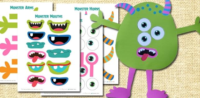Build A Monster Free Printable