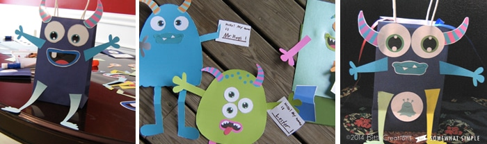 Make A Monster craft printable