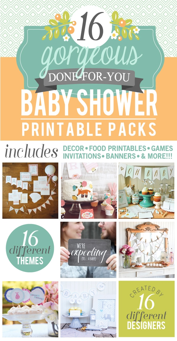 16 Baby Shower Themes with Printables