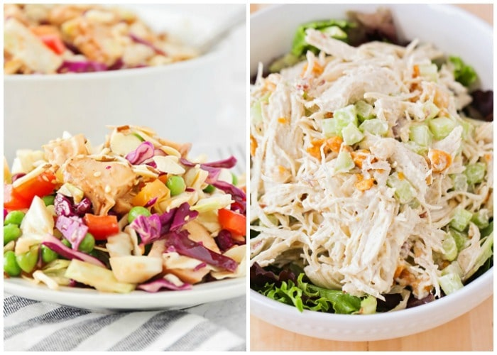 2 Asian chicken salads
