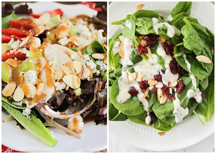 easy summer spinach salads