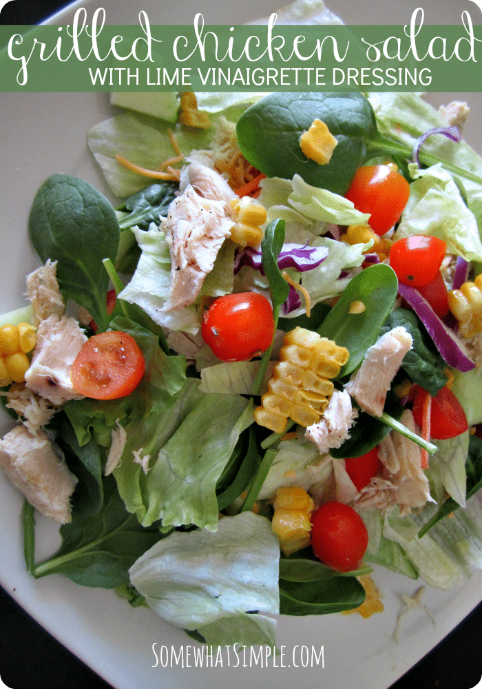 Grilled Chicken Salad - Somewhat Simple