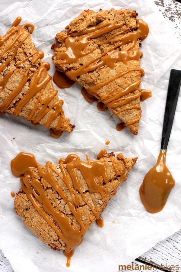 Cinnamon Maple Dulce de Leche Scones | Melanie Makes