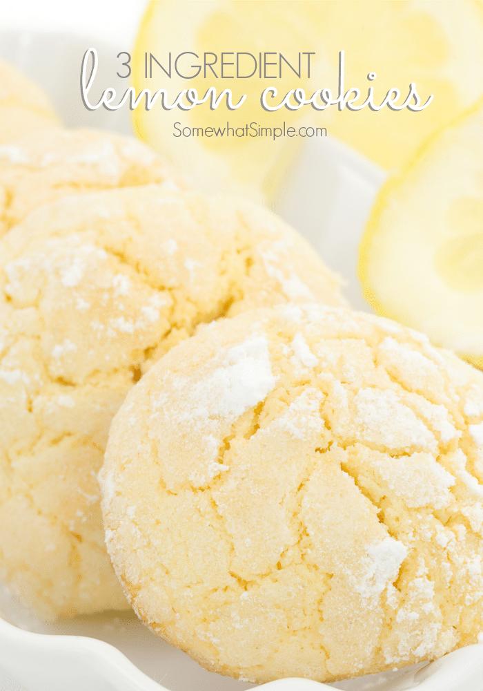 Lemon Supreme Cake Mix Cookies