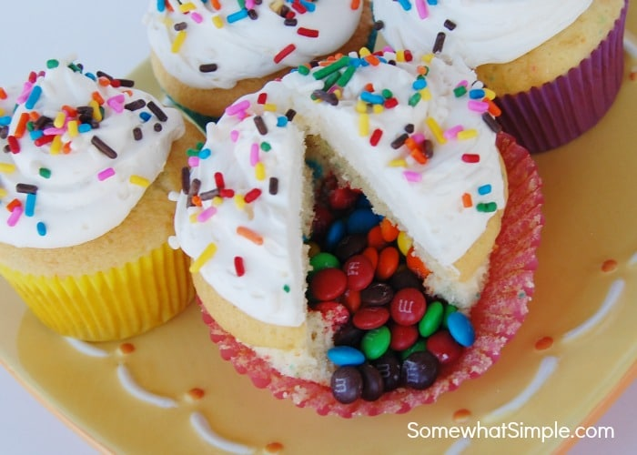 PINATA CUPCAKES by Somewhat Simple