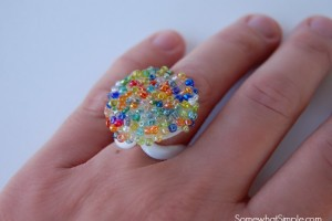 Juice Cap Ring Craft for Kids