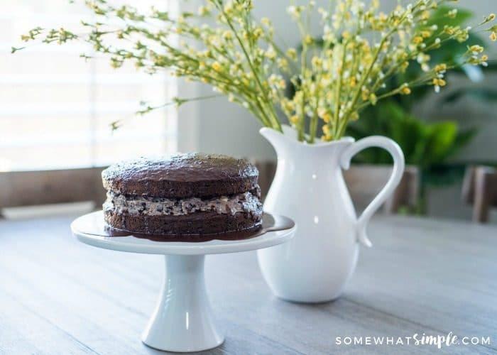 EASY Chocolate Covered Oreo Cake