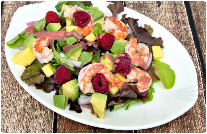 Raspberry-Shrimp-Salad