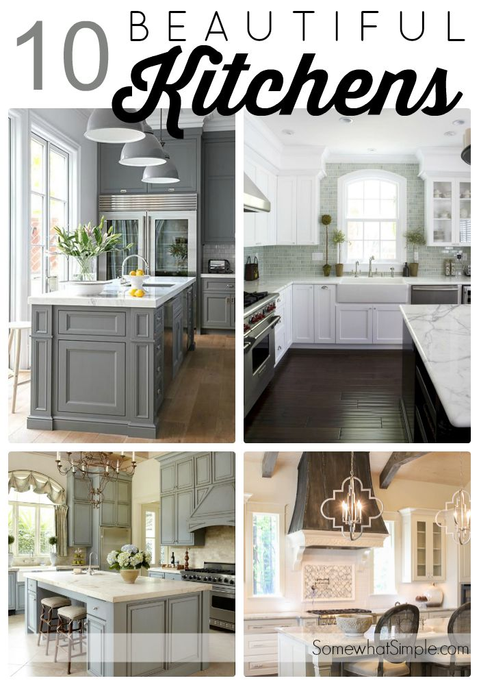 Top 10 beautiful kitchens somewhat simple for Beautiful kitchen cabinets