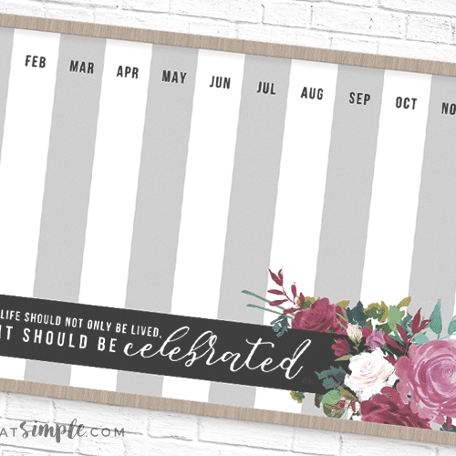 family birthday display printable