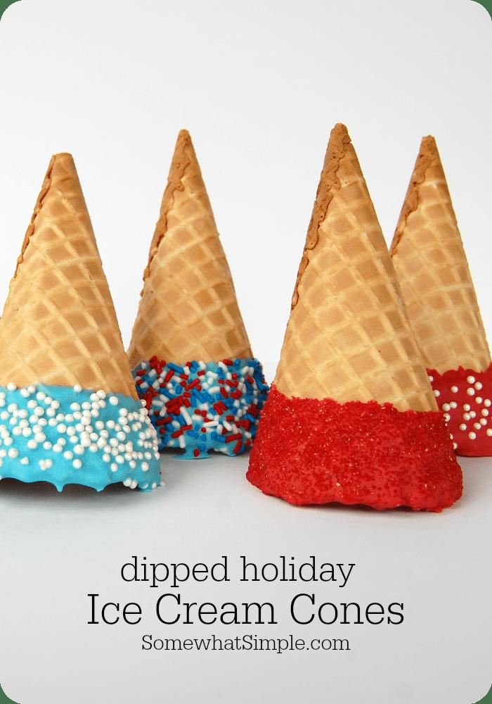 Easy dipped ice cream cones
