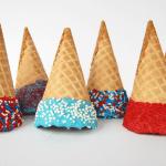patriotic colored ice cream cones