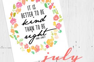 july free printable