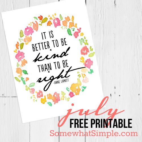Protected: Kindness Free Printable